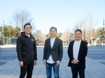 左からOne Capital 浅田慎二氏、Nota 洛西一周氏、Salesforce Ventures 細村拓也氏。2021年3月2日シリーズBラウンドとして投資家から総額5億円の資金調達を実施。