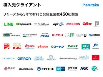 大手企業様を含め、多くの企業様にサービス導入実績がございます
