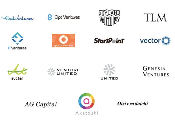 20社を超えるCVC、事業会社、VCにご利用いただいております。